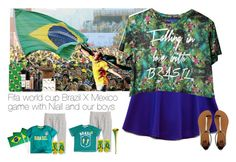 """Fifa world cup Brazil X Mexico game with Niall and our boys"" by haushuahusahuhushu ❤ liked on Polyvore featuring H&M, Forever 21, 2b bebe, Smashbox, ASOS and Havaianas"