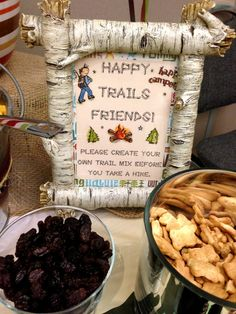 DIY Trail Mix Bar at a Camping Birthday Party!   See more party ideas at CatchMyParty.com!