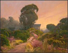 """Sunset, Cuesta Inlet, Morro Bay Estuary"" by LPAPA Signature Member Elizabeth Tolley (Cayucos, CA)"