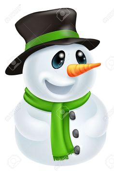 Illustration of Happy cute cartoon Christmas Snowman character with hat and green scarf vector art, clipart and stock vectors. Cartoon Fish, Cute Cartoon, Christmas Snowman, Christmas Diy, Merry Christmas, Snowman Images, Funny Snowman, Black And White Cartoon, Fish Vector