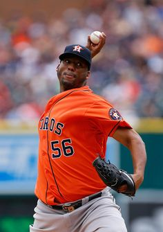 Roberto Hernandez Photos Photos - Roberto Hernandez #56 of the Houston Astros pitches in the first inning of the game against the Houston Astros on May 24, 2015 at Comerica Park in Detroit, Michigan. - Houston Astros v Detroit Tigers