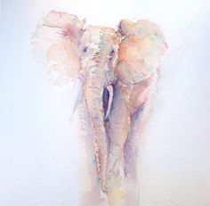 Elephant original watercolour painting * BlackFriday/CyberMonday- Free Double Mount will Purchase on Etsy, Watercolor Animals, Watercolor Paintings, Elephant Watercolor, Watercolours, Lapin Art, Elephant Art, Wow Art, Painting & Drawing, Amazing Art