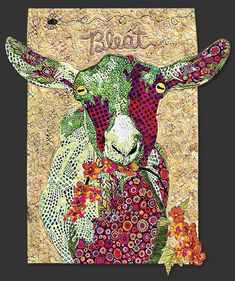 Goat Quilt | Order Ms. MacDonald's Farm Quilt Block of the Month today!