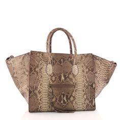 c2e41fb3c470 Buy Celine Phantom Handbag Python Large Brown 3318501 – Rebag Celine  Handbags