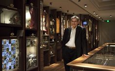 Orhan Pamuk, in the museum he created for his novel.