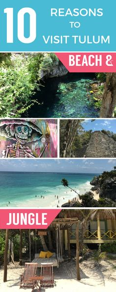 Tulum is far enough away from the Cancún craziness to be a haven for relaxation. Planning a trip to Mexico? My complete guide to Tulum gives you 10 reasons to plan a trip to this low-key beach escape- the best beaches, Mayan ruins, yoga, centotes and authentic Mexican cuisine are just a few of my favorite things to do. Check out my detailed guide for the best places to eat and drink and more in this beach meets jungle locale!