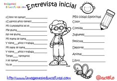 Entrevista inicial (3) Lease Agreement Free Printable, Spanish Classroom Activities, Schools First, Iyengar Yoga, First Grade, Sunday School, Kindergarten, Homeschool, Language
