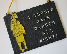 Funny Tacky Vintage 60s Wall Hanging by valentinasvintage on Etsy Are you pregnant and regretting it? Do you know someone who is? Do you like black and yellow? Are you trying to only buy Made in America stuff?  Or all of the above? Then this is definitely for you!