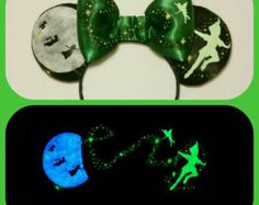 Glow in the Dark Tinkerbell Castle Mouse Ears Tink by Earsboutique