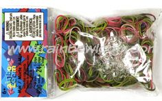Rainbow Loom mixed pink camouflage Loom bands