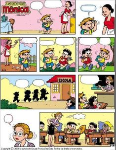 Comic Strip Template, Comic Strips, Speech Language Pathology, Speech And Language, Conversation Starters For Kids, Sequencing Cards, Story Sequencing, Learn Brazilian Portuguese, Portuguese Lessons