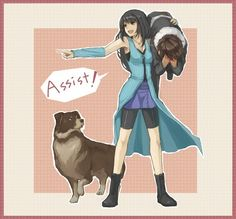 Rinoa Heartilly, Squall Leonhart & Angelo - Assist! (Final Fantasy VIII) #ff8