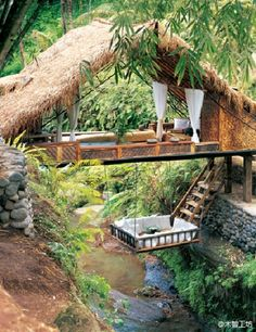 tree house - Not sure I would ever leave this spot. A good book and a glass of wine is all I need right there.
