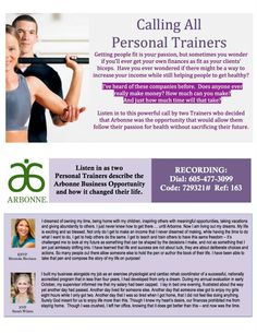 Listen in on this powerful call by two trainers who decided that Arbonne was the opportunity that would allow them to follow their passion for health without sacrificing their future.  Then contact me to get started at chelseykvision@gmail.com.  Consultant ID# 19726175 www.chelseykorbar.arbonne.com