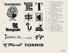 Collection of vintage logos from a edition of the book World of Logotypes. NOTE: I did not create any of this work! This book is out of print but can probably be found with some scouring. Vintage Logo Design, Graphic Design Art, Vintage Logos, Interior Design New York, Trademark Symbol, Brand Symbols, Logo Sign, Name Cards, Public Relations