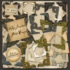 Vintage Scrapbook Photo Corner Graphics