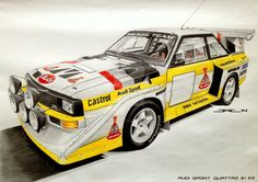 This model is for me synonymous of Rallying in the 80's. Revolutionary quattro drive, greats spoilers and the huge power... This machine frightens and fascinates at the same time! A3 size. Took me ...
