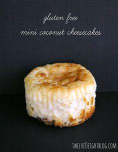 Mini coconut cheesecakes