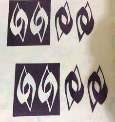 Sticky stencils