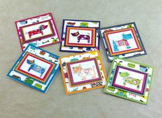 Mini Dog Themed Notecards   3x3 Dog Notecards   Handmade Mini Note Cards   Mini Gift Tags   Any Occasion Notecards   Handmade Greeting Cards by TheCardCornerNC on Etsy