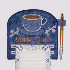 Latte Time Magnetic Applique Embroidered by CountryTrlCollection