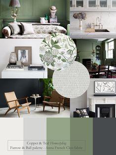 Modern Paint Colors, Modern Color Palette, Green Colour Palette, Paint Colors For Home, House Colors, Color Palettes, House Color Schemes Interior, Green Interior Design, Scandinavian Interior Design