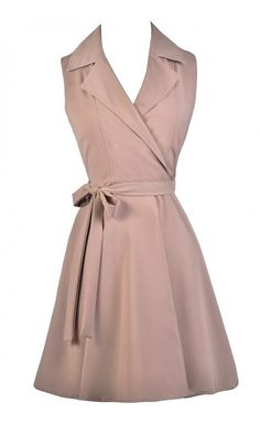 pink taupe dress