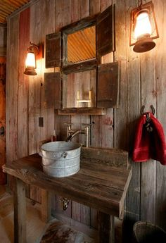 rustic-bathroom-3. this is actually in the barn. no, it's not.
