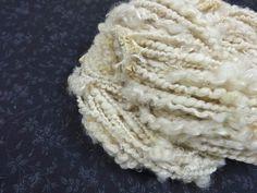 Handspun Art Yarn Bulky Coil Spun Art Yarn with Lace by Autumnrose
