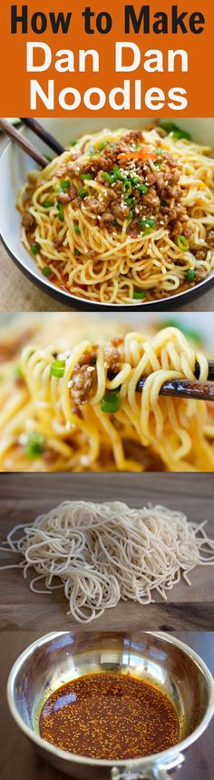 Dan Dan Noodles - savory and spicy Sichuan noodles with ground meat. Dan Dan Mian (Noodles) is delicious. Learn how to make it with this easy recipe | rasamalaysia.com