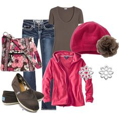 pink and brown outfit, hats, chocolate brown, cozy outfits, fashion styles