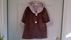 Child's Brown Car Coat 2 years C109/15 by zoya49 on Etsy