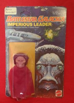 "Battlestar Galactica 3.75"" Imperious Leader Series 1 Action Figure from Mattel Toys (1978)"