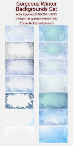 14 gorgeous looking winter backgrounds/Overlays. All are created in transparent PNG which means that you can use them on top or below on your videos, graphics etc.  7 transparent PNG files and 7 beautifully created jpgs, all ready to use in your Holiday creations.  Perfect for Christmas Holiday Greeting Cards, backgrounds, Holiday videos and much more…