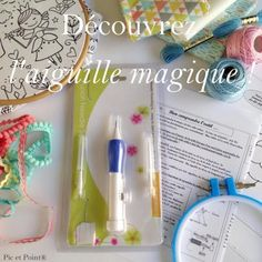 Broderie aiguille Punch Set Stylo Outil Magic bricolage Craft Couture Kit de couture Kim
