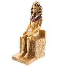 Rameses the Second Seated on Hieroglyphic Throne. Egyptian Figurine.: Amazon.co.uk: Kitchen & Home CAKE TOPPER
