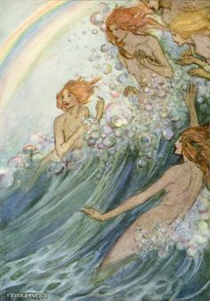 Whither away? by Emma Florence Harrison, illustration to The Sea Fairies by Tennyson