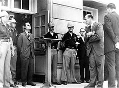 """June 11, 1963: Gov. George C. Wallace makes his infamous """"stand in the schoolhouse door"""" to block the admittance of African Americans to the University of Alabama. Vivian Malone and James Hood both registered for classes quietly away from the spotlight to become the first two black students to successfully enroll at the university."""