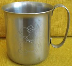 OLD HALL Stainless Steel Designed R Welch Mabel Lucie Attwell Nursery Mug Rabbit