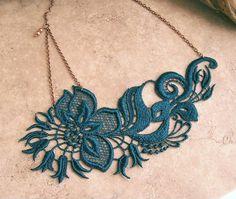 carnation lace necklace