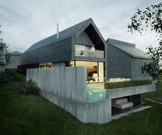 Visions of an Industrial Age // Slopeing site house, Kraków | TAMIZO ARCHITECTS: