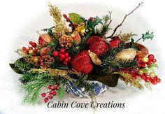 Williamsburg Christmas Centerpiece Floral Arrangement Fruit