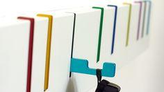 Symbol Coat Rack by Desu Design | Low Profile for Tight Spaces near Door into house