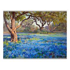 City Landscape, Landscape Photos, Landscape Paintings, Landscapes, Texas Landscaping, Alamo Heights, Cute Canvas Paintings, Acrylic Pouring Art, Blue Bonnets