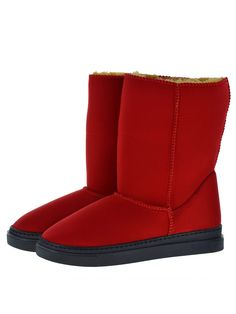 Everest Air Neo-Red Adele boots. Scuba Neoprene Fabric, faux-fur lining, warm and comfort guaranteed.