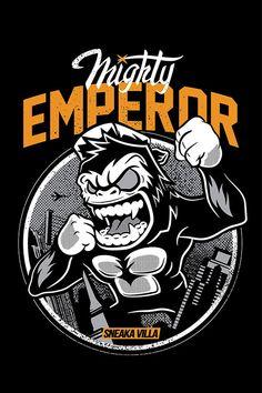 Mighty Emperor by thinkd on DeviantArt Gorillaz, Casual Art, Work Hard In Silence, Stoner Art, Graffiti Characters, Graffiti Lettering, Vector Art, Pop Art, Shirt Designs