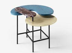 Table marbre laiton