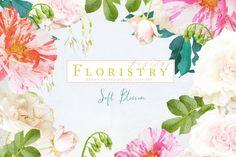 Digital Floristry - Soft Blossom by CreateTheCut on @creativemarket