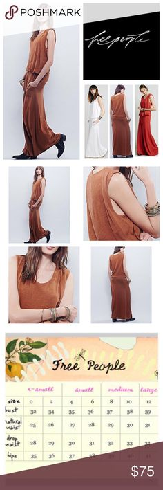 "🆕Free People Gallery Night Maxi Dress.  NWOT. 🆕Free People FP Beach Gallery Night Maxi Dress, 100% cotton, machine washable, 19"" armpit to armpit (38"" all around), 36"" waist, 59"" length, casual, cool maxi dress with a blouson waist and hip pockets, drapey top lends the appearance of a two-piece, slight stretch, scoop neckline, black line drawn through FP tag to prevent return to store, measurements are approx.  New without tag, never worn.   NO TRADES Free People Dresses Maxi"