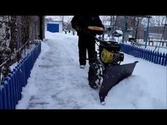 Home Made Snow plough, Plow for champion walk behind tractor мотоблок Walk Behind Tractor, How To Make Snow, Snow Plow, Tractors, Champion, Walking, Videos, Youtube, Outdoor